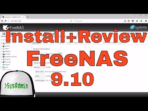 How To Install And Configure FreeNAS 9.10 Storage + Review On VMware Workstation Tutorial [HD]