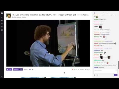 Twitch chat paints with Bob Ross