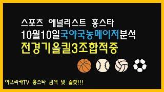 10월 10일 프로토 승부식 79회차 국야 국농 메이저 분석