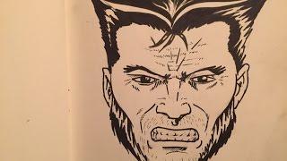 Draw the Marvel Way issue 2. Wolverine portrait
