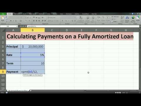 amortized loan calculation