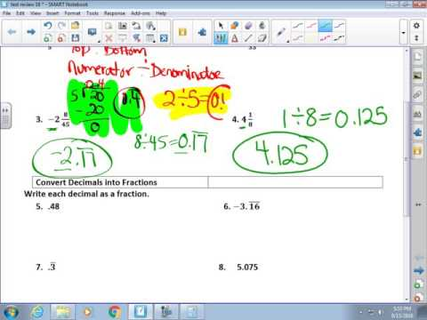 Test Review Real Numbers 1