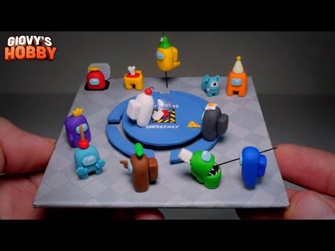 Making AMONG US ➤ Miniature Diorama! ★ Polymer Clay Tutorial