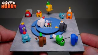 Making AMONG US ➤ Miniature Diorama! ★ Polymer Clay Tutorial