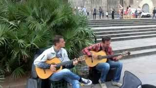 Top Spanish Guitar Street Music in Barcelona , Adrian Roman & Martin Sazandeh