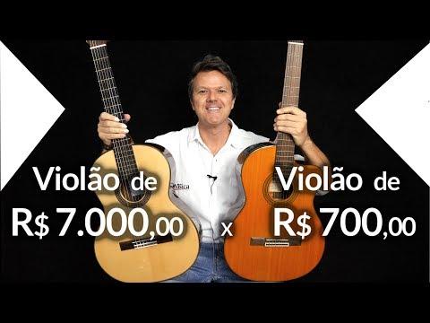 🔴 Violão de R$ 7.000,00  x  Violão de R$ 700,00