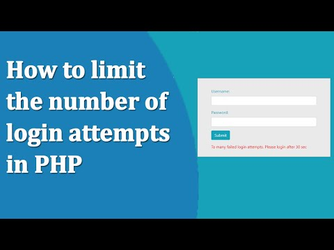 How To Limit The Number Of Login Attempts In PHP