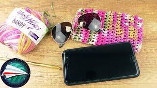 Etui na smartfona i okulary słoneczne na szydełku | szydełkowanie latem