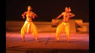 Mayurbhanj chhau dance in Orissa Dandi dance item pressented by Sai Babu brothers