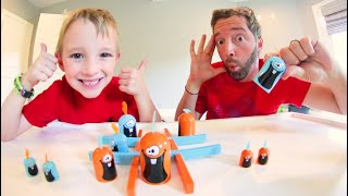 Father & Son PLAY GOBLET GOBBLERS GAME! / Ultra Tic Tac Toe
