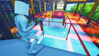 'INSANE' NINJA WARRIOR PARKOUR OBSTACLE COURSE In Fortnite Creative! (avec code)