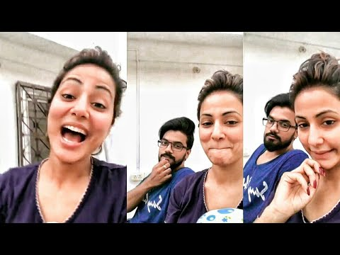Bigg Boss 11 Hina Khan And Rocky Jaiswal Live Talking About Their