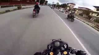 ktm rc390 fast city ride nepal