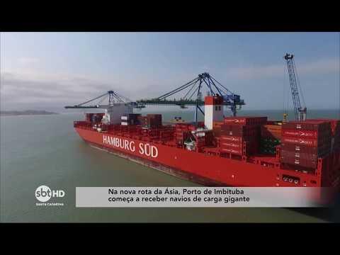 Na nova rota da Ásia, Porto de Imbituba começa a receber navios de carga gigante
