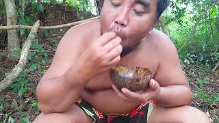 Primitive Technology - cooking BABY EGG on the rock at forest - cooking BABY EGG eating delicious