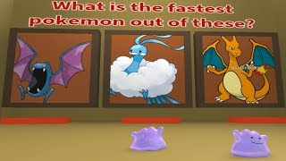 Roblox: WHAT POKEMON IS FASTER?? - DITTO QUIZ (1/4)
