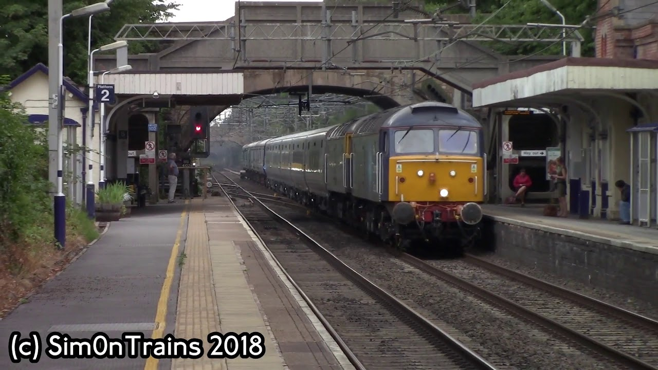Rog Class 47s 47813 With 47812 With Tpe Mk5s 5q32 Passing Alderley
