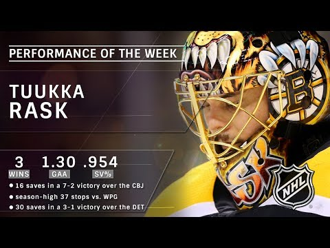 Tuukka Rask puts together best week of season, going 3-0 with shootout win