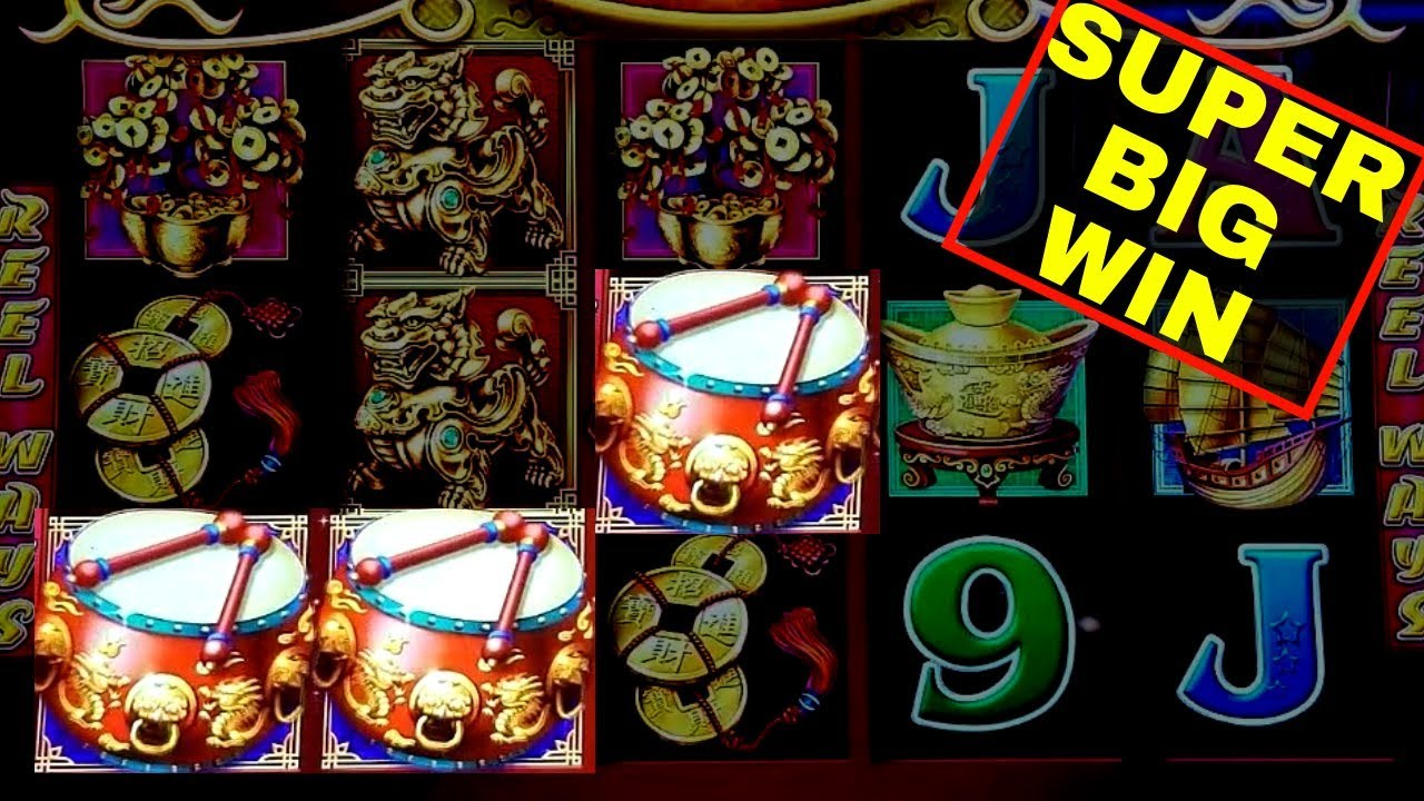 Dancing Drums Slot Machine Super Big Win Awesome Mystery