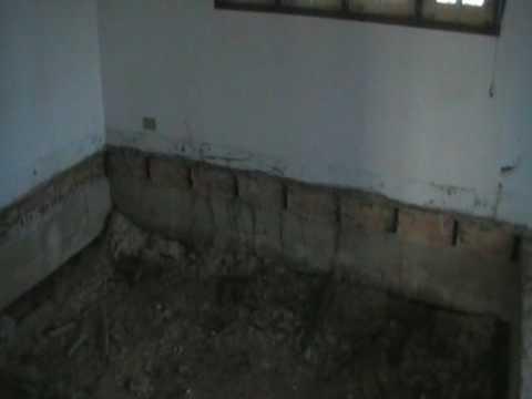 Houten vloer eruit zand en beton erin. - YouTube