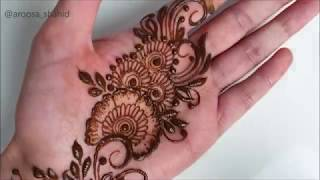 New Stylish Easy mehndi design for front of hands