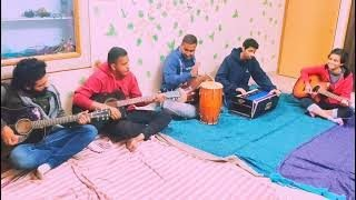Random Jamming Session With Guitar,Harmonium,Dholak Play Bollywood Old Songs Mashup Sidhmayi Group.