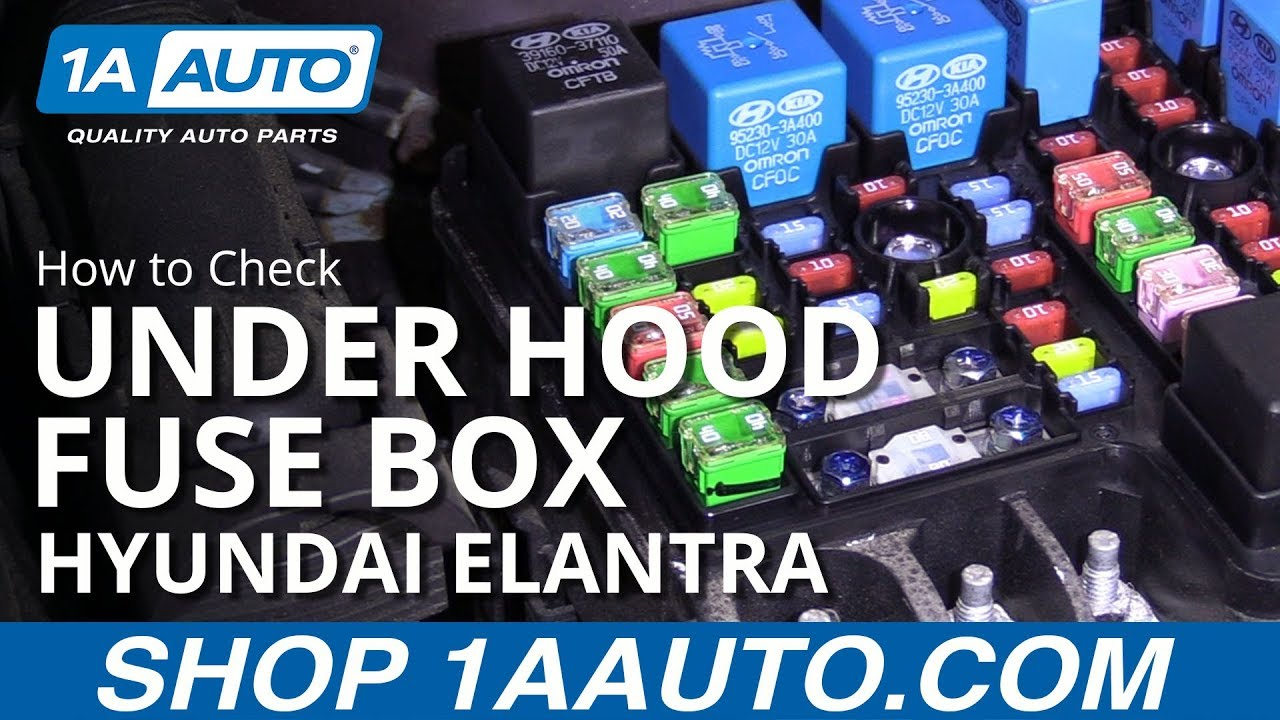[DIAGRAM_3US]  How to Check Under Hood Fuses 07-10 Hyundai Elantra - YouTube | 2007 Hyundai Elantra Fuse Box |  | YouTube