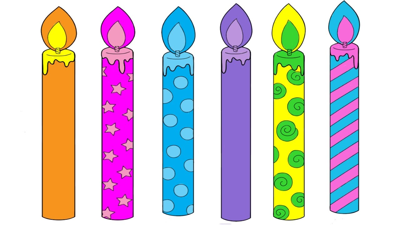 Birthday Candles Coloring Pages Birthday Candles Colouring Pages