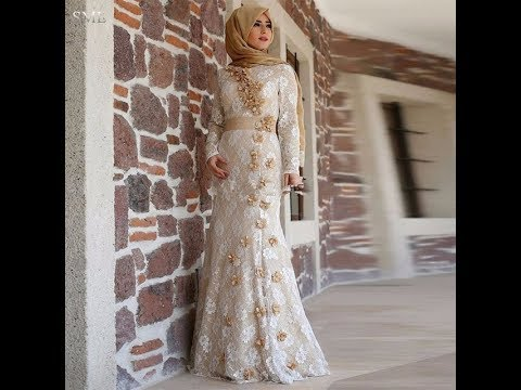 97ba9e658 فساتين محجبات سهرة سوارية موضة ازياء 2018 fashion hijab Dresses veiled