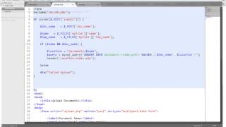Upload and Download Documents - PHP MYSQL (Part 2)