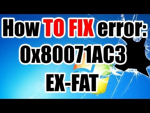 🍊 Error 0x80071AC3 - EXFAT - HOW TO FIX IT
