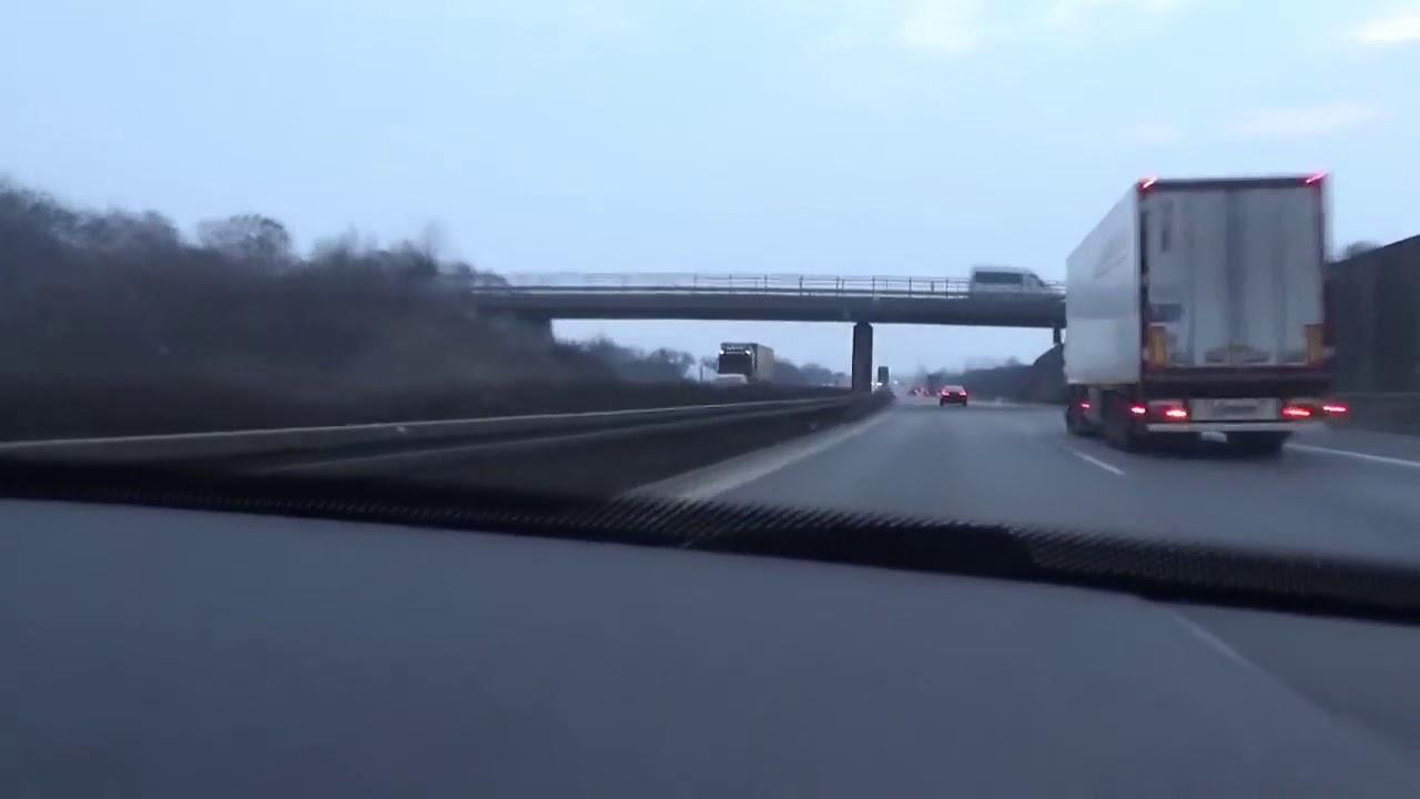 Pościg polskiego złodzieja Audi A8 na autostradzie A4 w kierunku Ludgwigsdorfu granicą państwa.