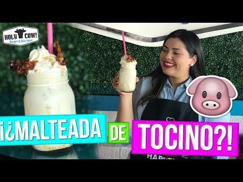 ¡¿Malteada de Tocino?! 🐷 RECETA SECRETA 😱 con Holy Cow | RebeO