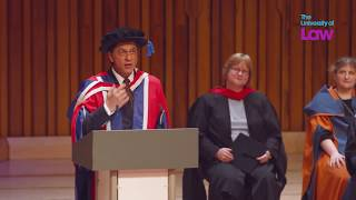 Bollywood superstar, Shah Rukh Khan, accepts his Honorary Doctorate from The University of Law