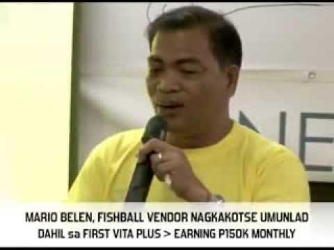 First Vita Plus Success Testimony of Mario Belen (former fishball vendor)