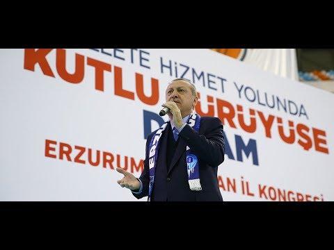 Cumhurbaşkanımız Erdoğan, Erzurum 6. Olağan Kongresinde Konuştu