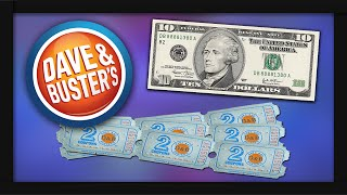 $10 Arcade Ticket Challenge At Dave & Busters!