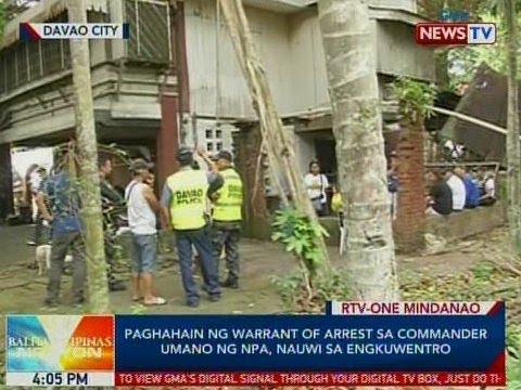 BP: Paghahain ng warrant of arrest sa commander umano ng NPA, nauwi sa engkuwentro