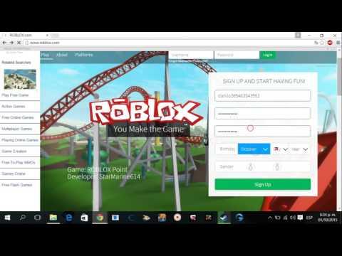 Como Crear Una Cuenta Para Roblox Para Pc Youtube