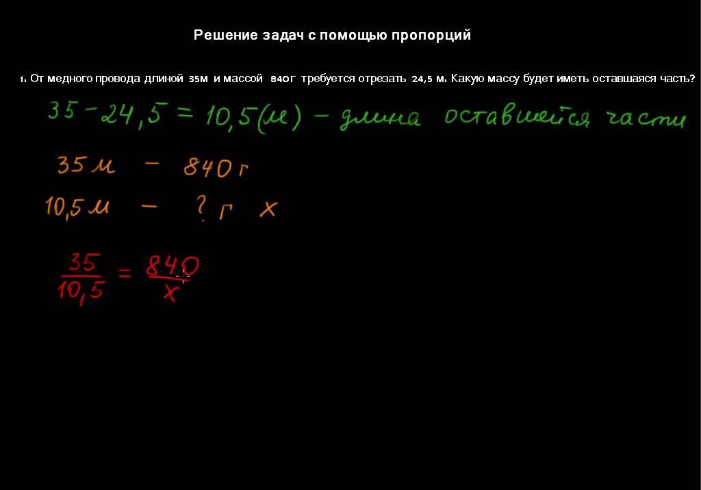 Решение задач с помощью пропорций открытый урок определите перекрестную эластичность спроса решение задач