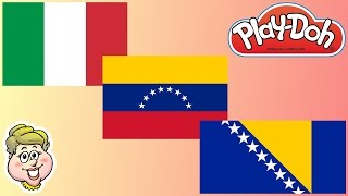 Play-Doh Flags! Italy, Venezuela, Bosnia and Herzegovina! EWMJ #140