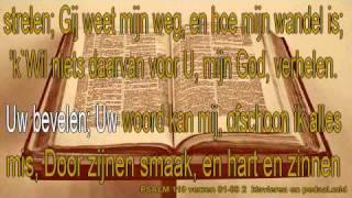 """Psalm 119 verzen 81-88 niet ritmisch Karaoke """" Wat vreê heeft elk, die Uwe wet bemint!  """""""