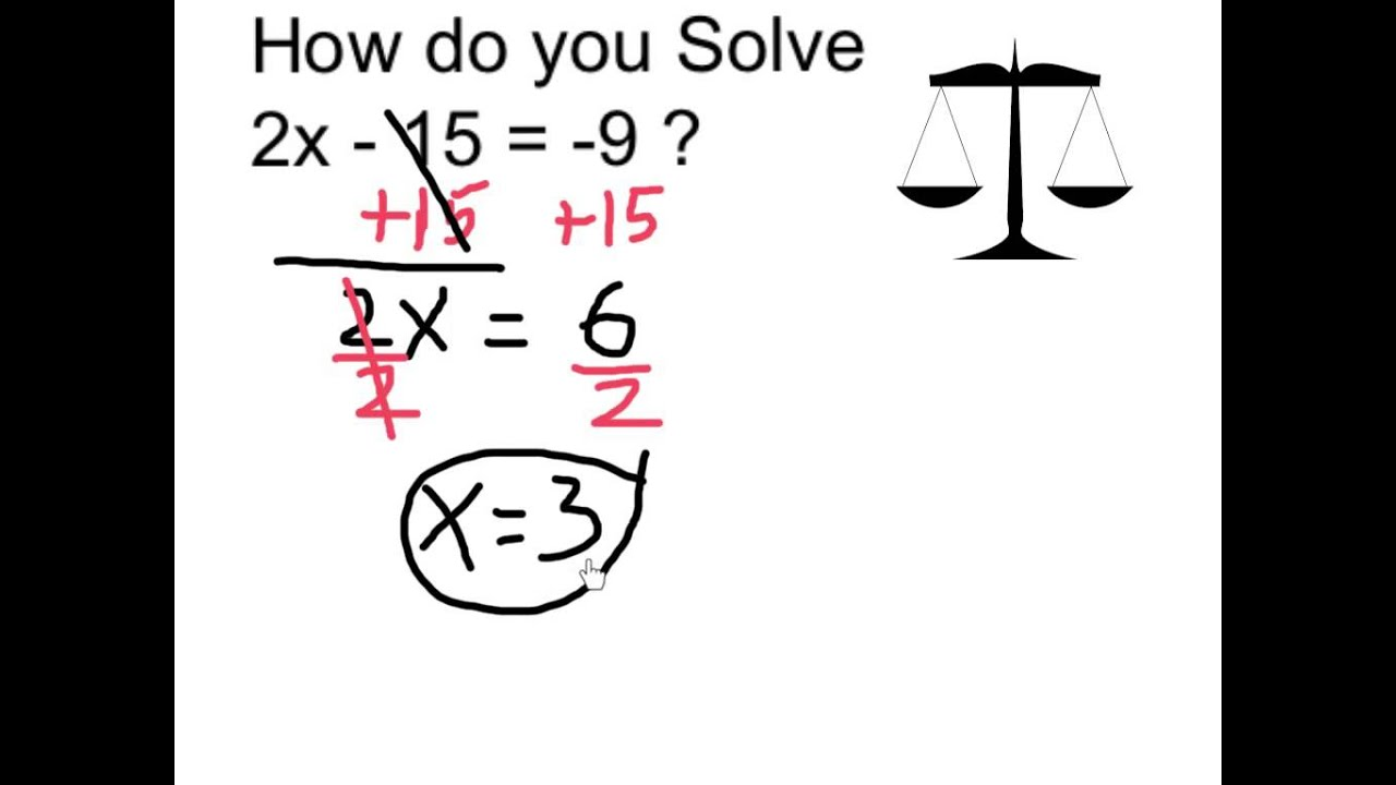2x 3 15 how to solve