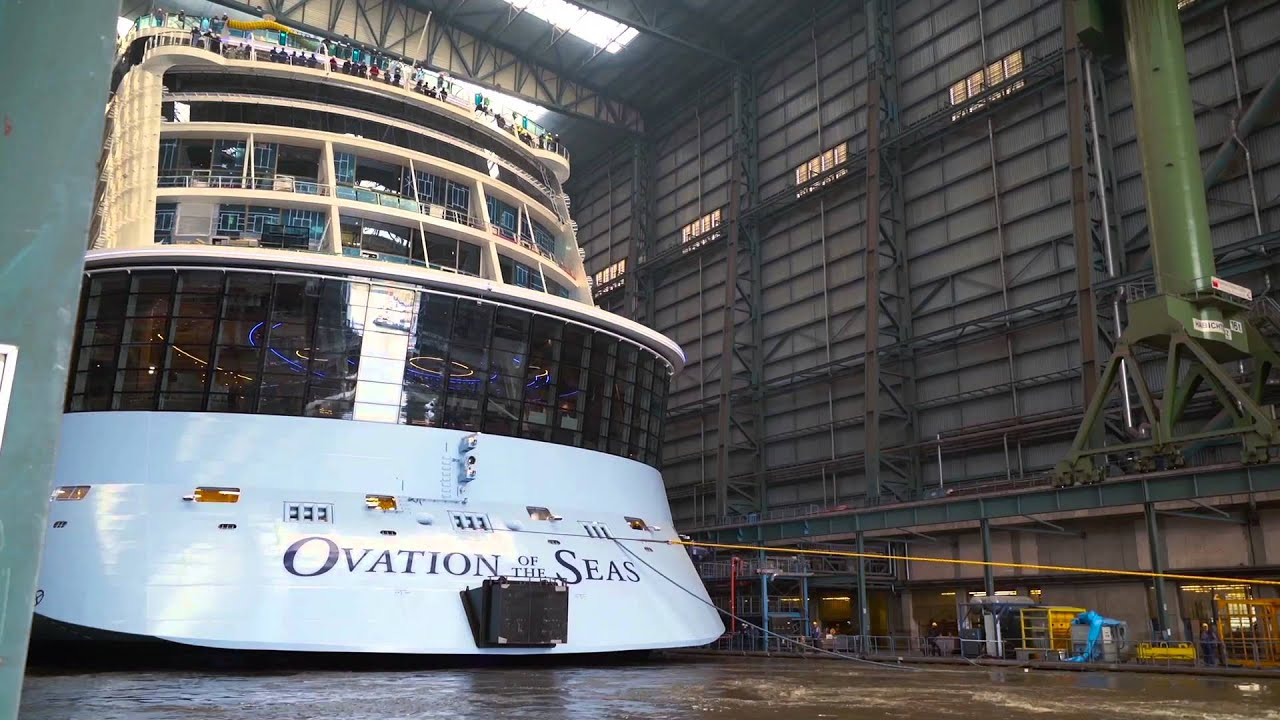 Ovation Of The Seas Docking Out Youtube