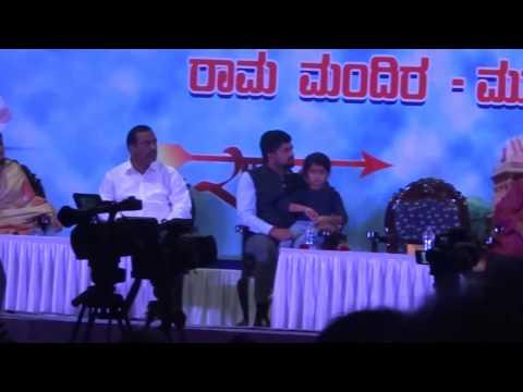 Part 2, Dr.Subramanya swamy Ram mandir November 2017 Mysore