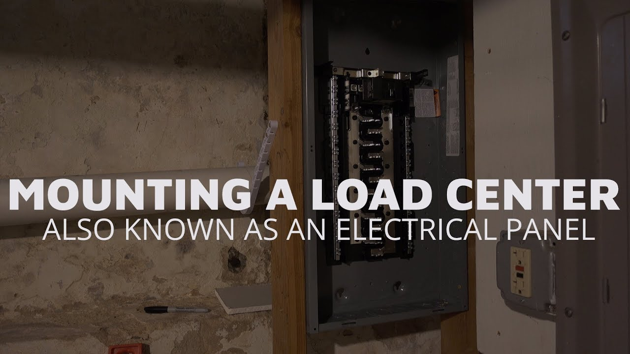 Mounting a Load Center (Electrical Panel) on side electrical panel, power electrical panel, brick electrical panel,