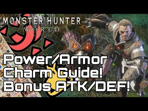 MONSTER HUNTER WORLD! Increase Attack & Defense Easy! Armor/Power Charm & Talons