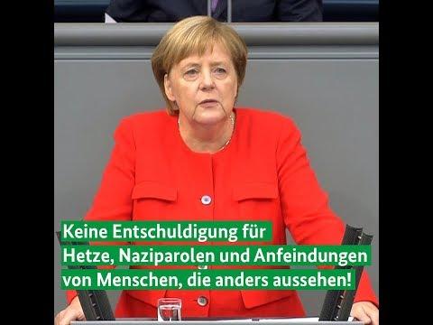 Kanzlerin Merkel bei der Generaldebatte zum Haushalt