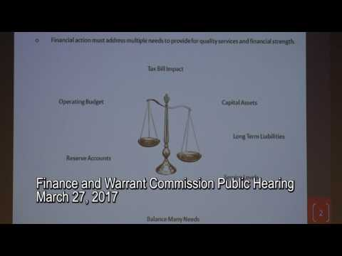 Finance and Warrant Commission Public Hearing 3/27/17