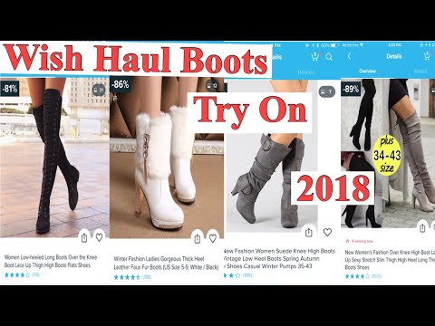 WISH HAUL BOOTS 2018:: I SPEND $80 for 5 boots ::